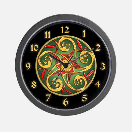 Celtic Pentacle Spiral Wall Clock