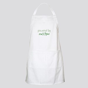 Powered By zucchini BBQ Apron