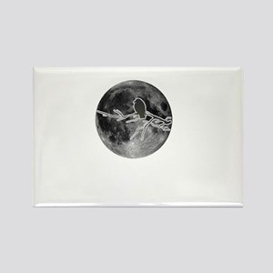 Crow in the moon Rectangle Magnet