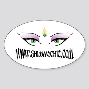 New Shimmy Chic Logo Design Oval Sticker