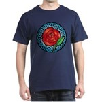 Celtic Rose Stained Glass Dark T-Shirt
