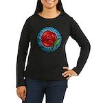 Celtic Rose Stained Glass Women's Long Sleeve Dark