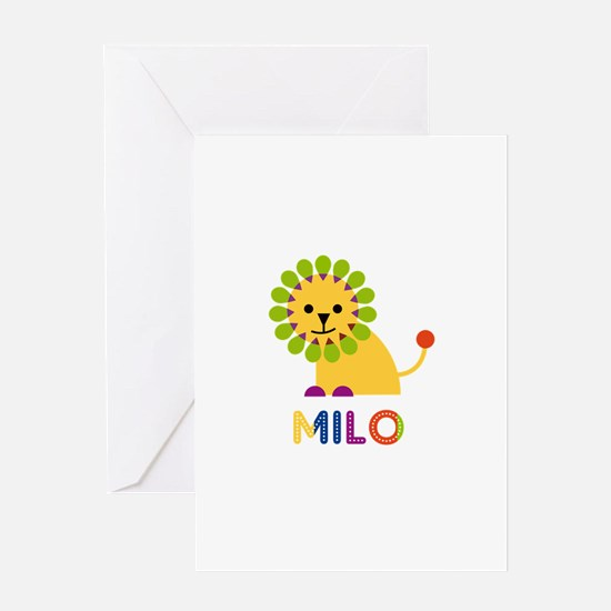 Milo Loves Lions Greeting Card