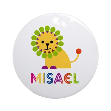 Misael Loves Lions Ornament (Round)