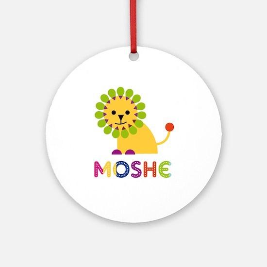 Moshe Loves Lions Ornament (Round)