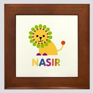 Nasir Loves Lions Framed Tile