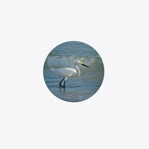 Snowy egret Mini Button