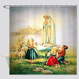 Our Lady of Fatima 1917 Shower Curtain