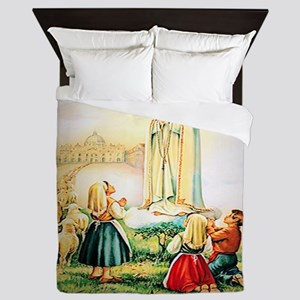 Our Lady of Fatima 1917 Queen Duvet