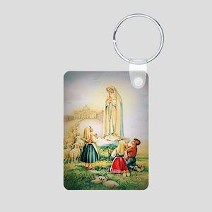 Our Lady of Fatima 1917 Aluminum Photo Keychain