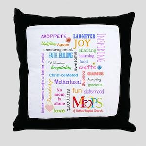 MOPS Throw Pillow