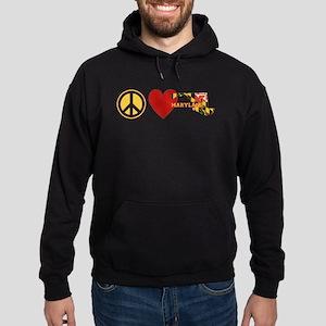 Peace Love Maryland Hoodie (dark)
