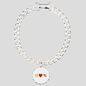 Peace Love Maryland Charm Bracelet, One Charm
