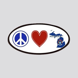 Peace Love Michigan Patches