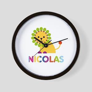 Nicolas Loves Lions Wall Clock