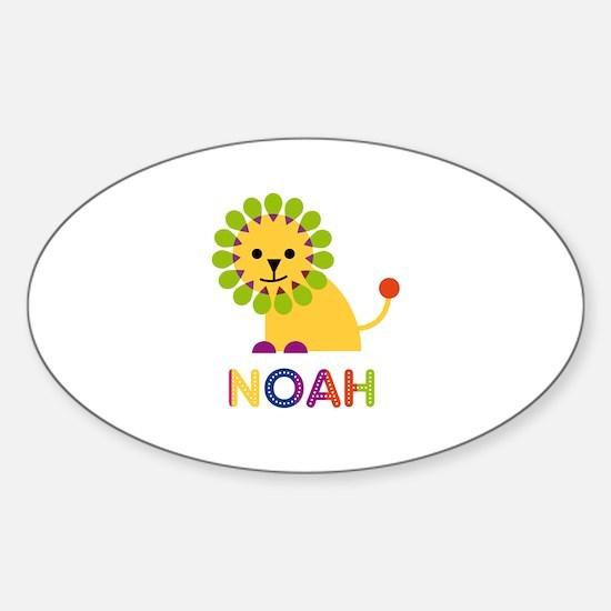 Noah Loves Lions Decal