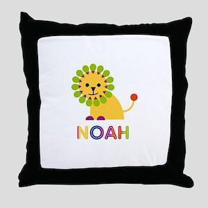 Noah Loves Lions Throw Pillow