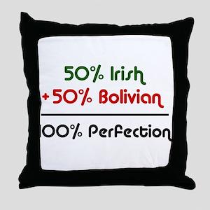 Irish and Bolivian Throw Pillow