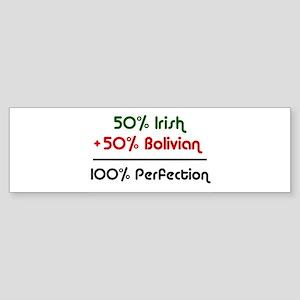 Irish and Bolivian Bumper Sticker
