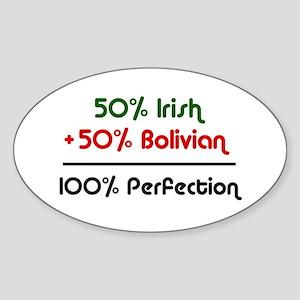 Irish and Bolivian Oval Sticker