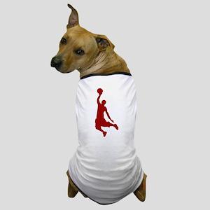 Basketball player Slam Dunk Silhouette Dog T-Shirt