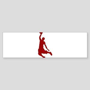Basketball player Slam Dunk Silhouette Bumper Stic