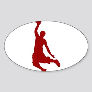Basketball player Slam Dunk Silhouette Sticker