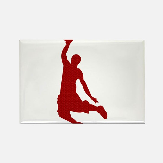 Basketball player Slam Dunk Silhouette Rectangle M