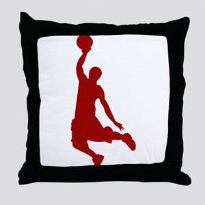 Basketball player Slam Dunk Silhouette Throw Pillo