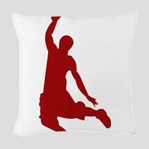 Basketball player Slam Dunk Silhouette Woven Throw