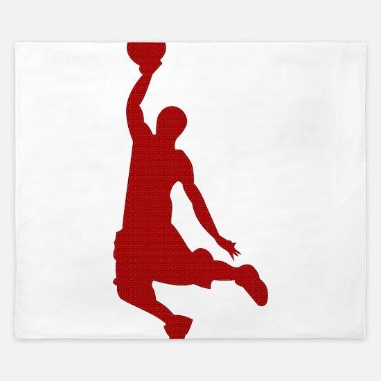 Basketball player Slam Dunk Silhouette King Duvet