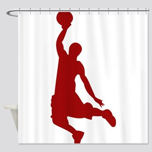 Basketball player Slam Dunk Silhouette Shower Curt