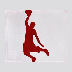 Basketball player Slam Dunk Silhouette Throw Blank