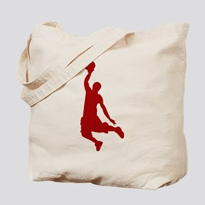 Basketball player Slam Dunk Silhouette Tote Bag
