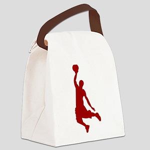 Basketball player Slam Dunk Silhouette Canvas Lunc