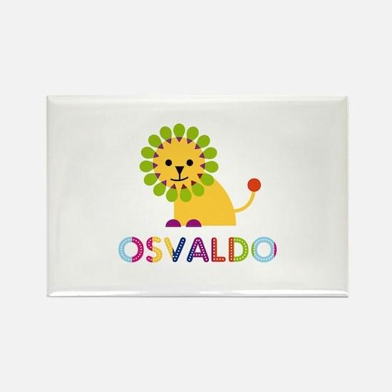 Osvaldo Loves Lions Rectangle Magnet