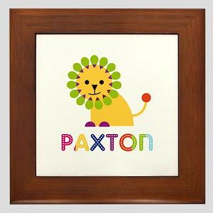 Paxton Loves Lions Framed Tile