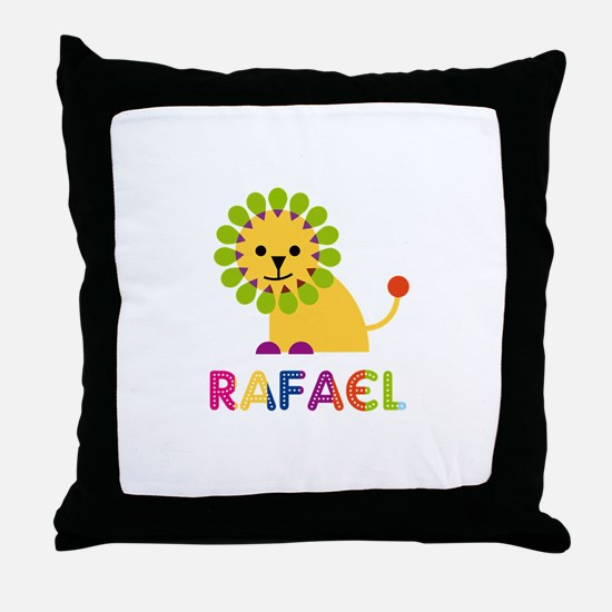 Rafael Loves Lions Throw Pillow