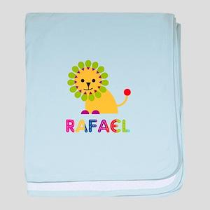 Rafael Loves Lions baby blanket