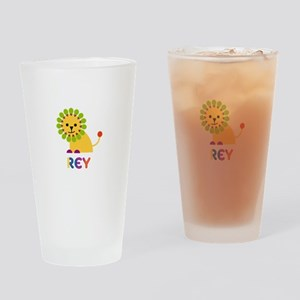 Rey Loves Lions Drinking Glass