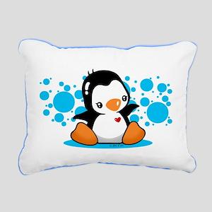 Penguin (B) Rectangular Canvas Pillow