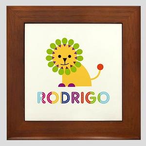 Rodrigo Loves Lions Framed Tile