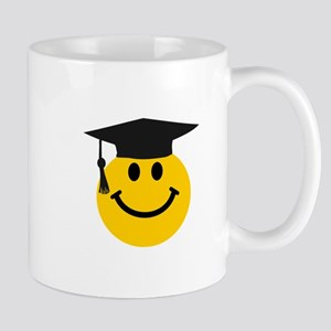 Graduate smiley face Small Mug