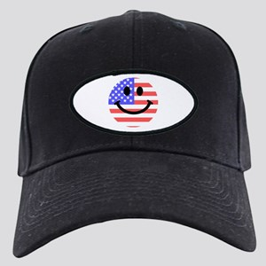 American Flag Smiley Face Baseball Cap