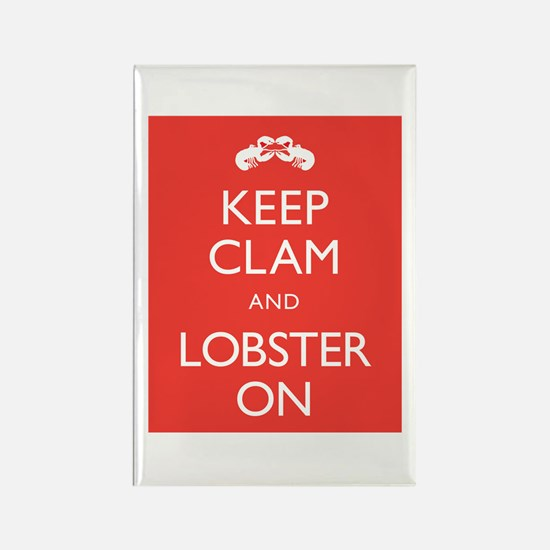 Keep Clam and Lobster On Rectangle Magnet