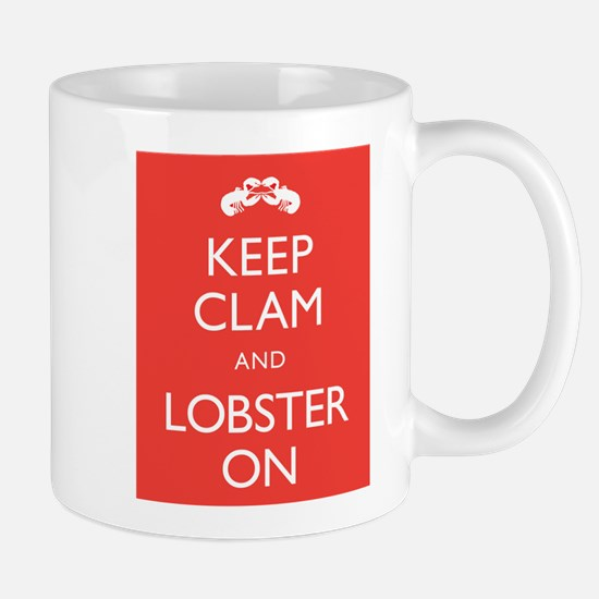 Keep Clam and Lobster On Mug