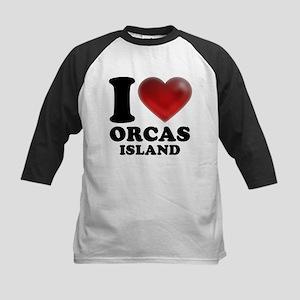 I Heart Orcas Island Baseball Jersey
