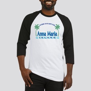 Anna Maria Island-Happy Place Baseball Jersey