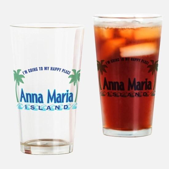 Anna Maria Island-Happy Place Drinking Glass