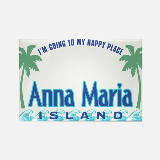 Anna Maria Island-Happy Place Rectangle Magnet